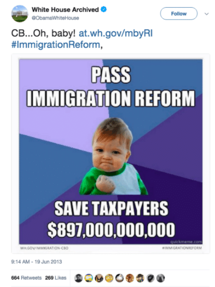 Instagram Success Kid Meme Immigration Congress