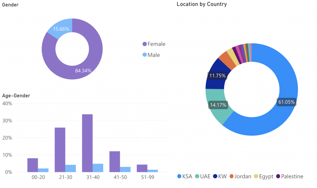 Sila's instagram analytics for influencers in the GCC